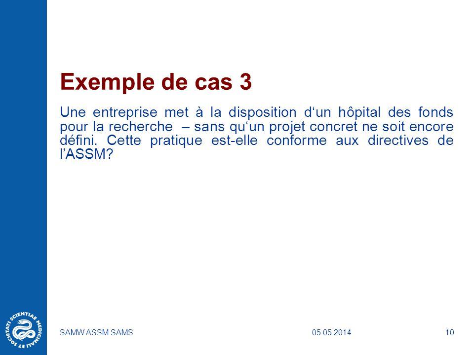 Exemple de cas 3