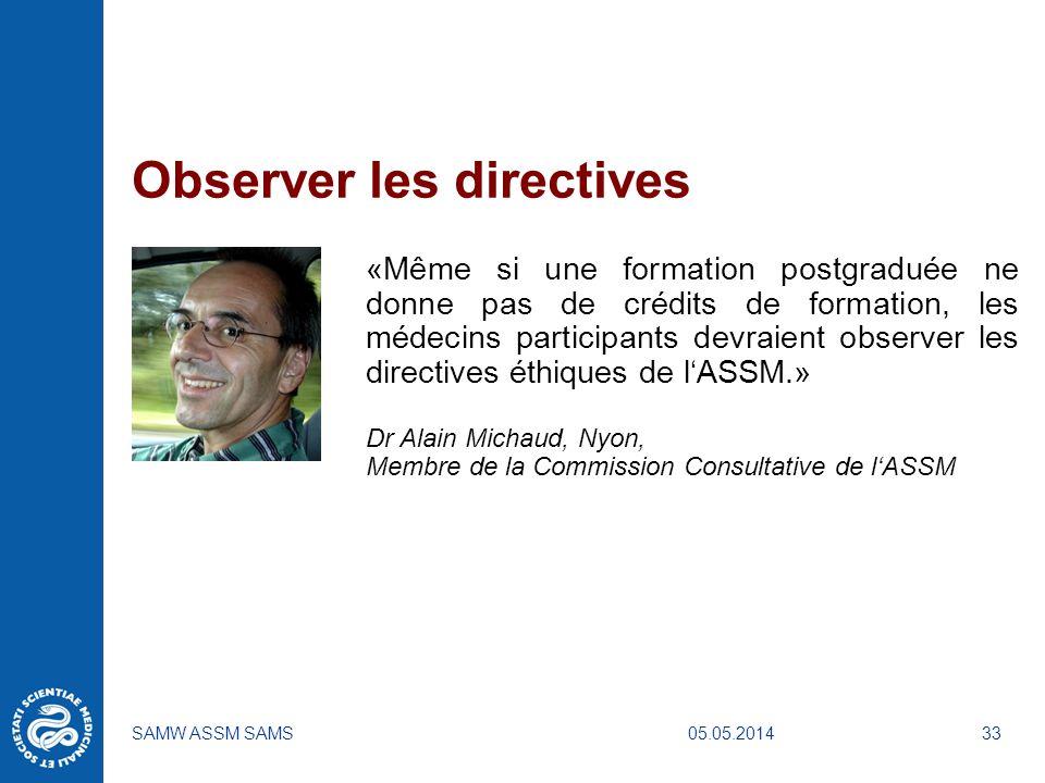 Observer les directives