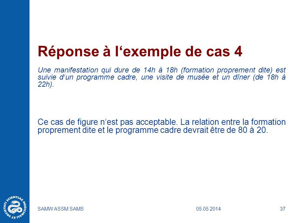 Réponse à l'exemple de cas 4
