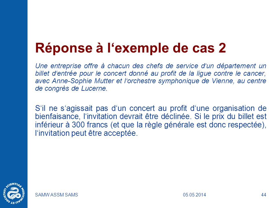 Réponse à l'exemple de cas 2