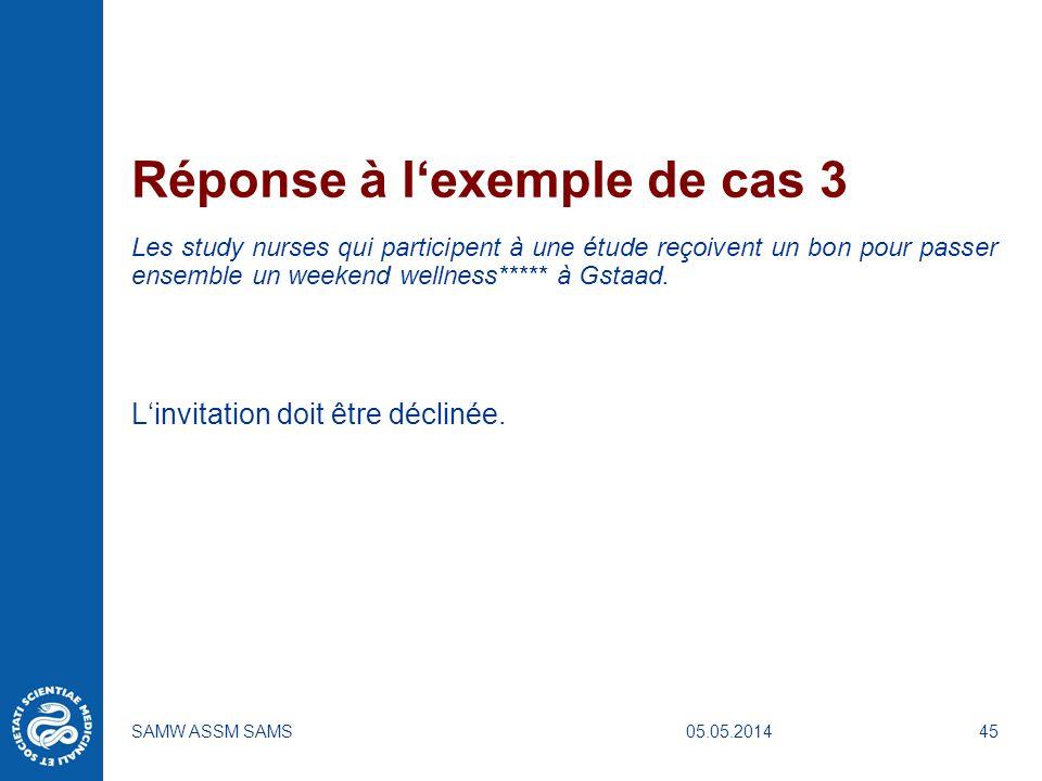 Réponse à l'exemple de cas 3