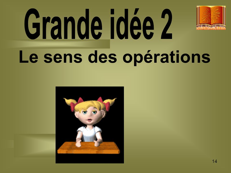 Le sens des opérations Grande idée 2 14