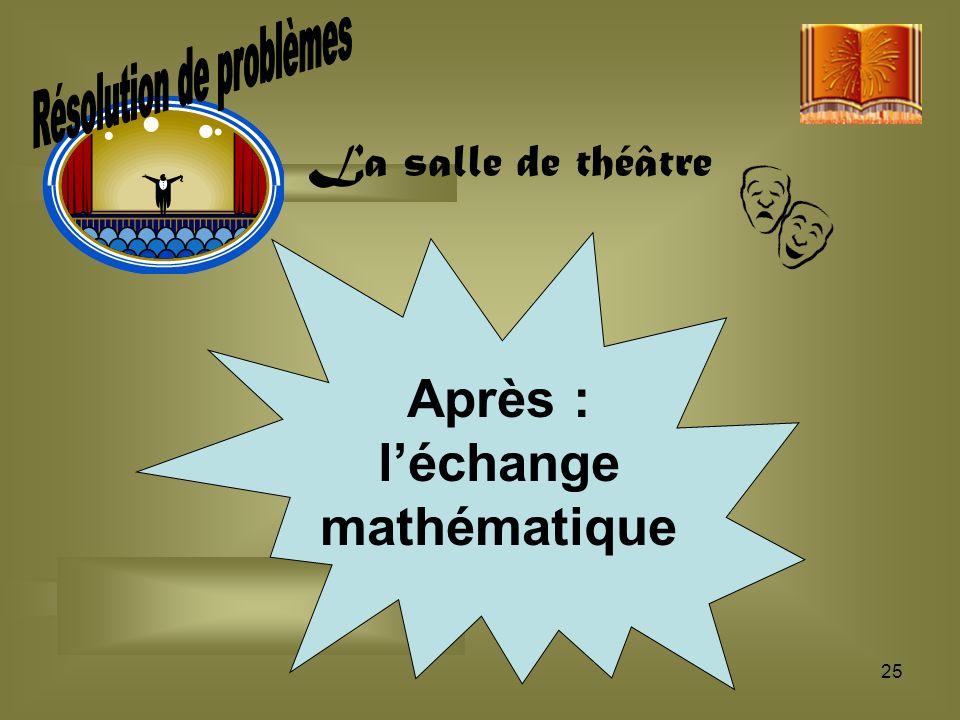 Résolution de problèmes l'échange mathématique