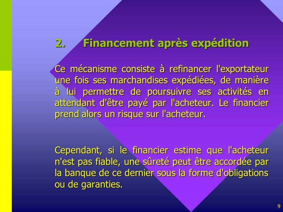 2. Financement après expédition