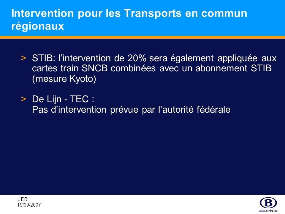 Intervention pour les Transports en commun régionaux