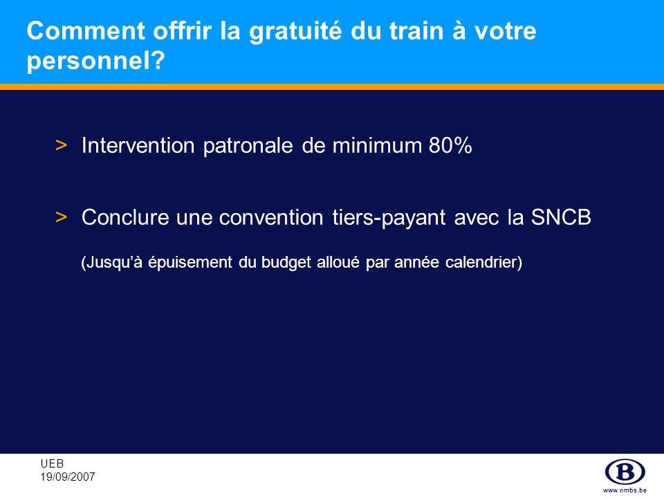 Comment offrir la gratuité du train à votre personnel