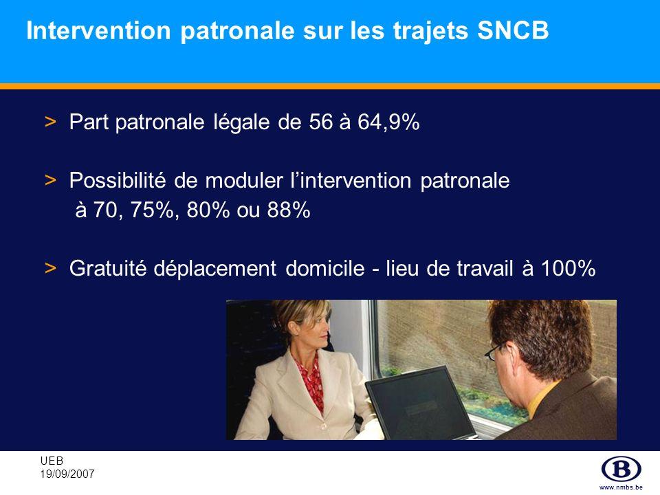 Intervention patronale sur les trajets SNCB