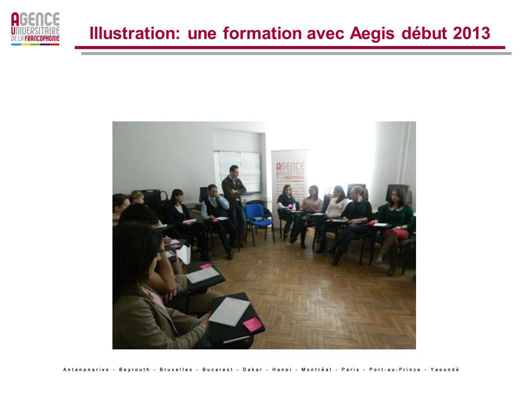 Illustration: une formation avec Aegis début 2013