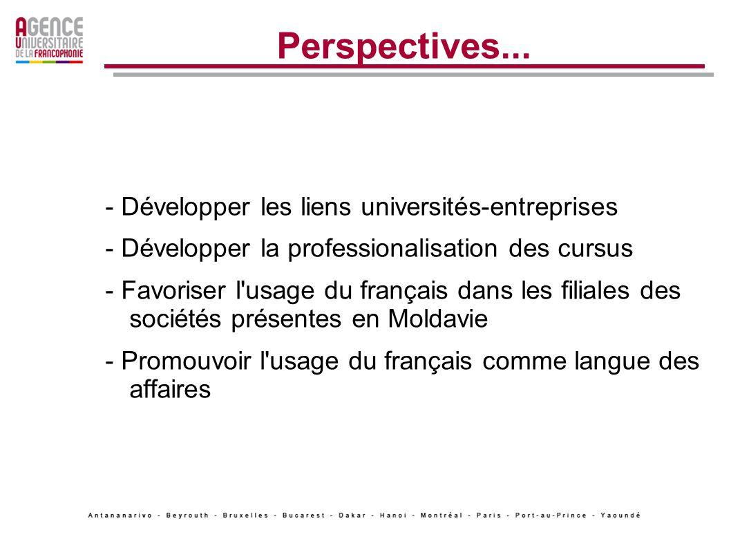 Perspectives... - Développer les liens universités-entreprises