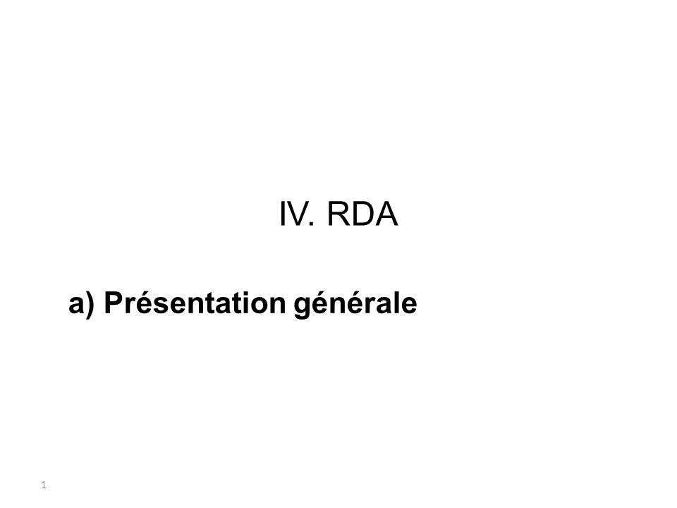 a) Présentation générale