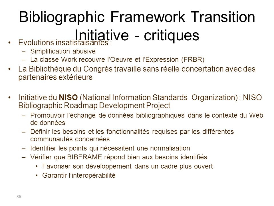 Bibliographic Framework Transition Initiative - critiques