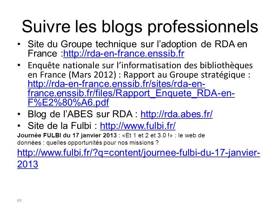 Suivre les blogs professionnels