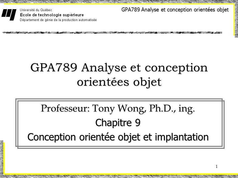 GPA789 Analyse et conception orientées objet