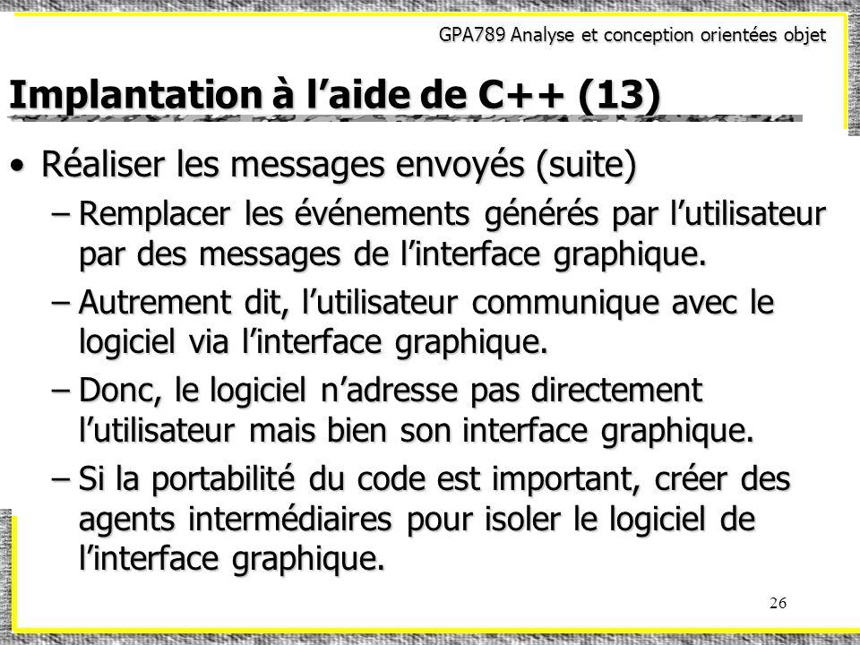 Implantation à l'aide de C++ (13)