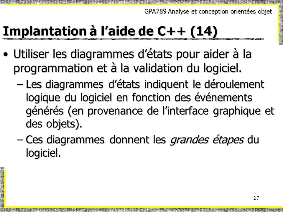Implantation à l'aide de C++ (14)