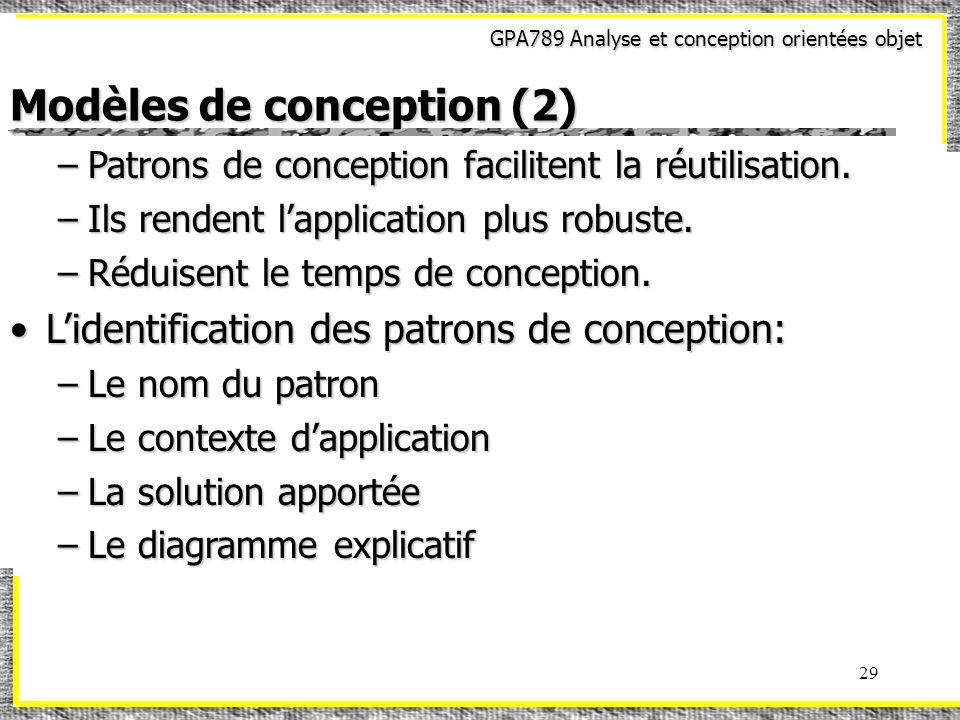 Modèles de conception (2)