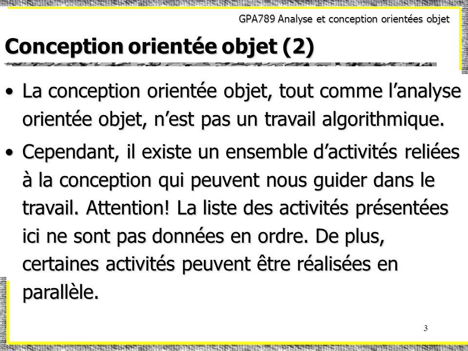 Conception orientée objet (2)