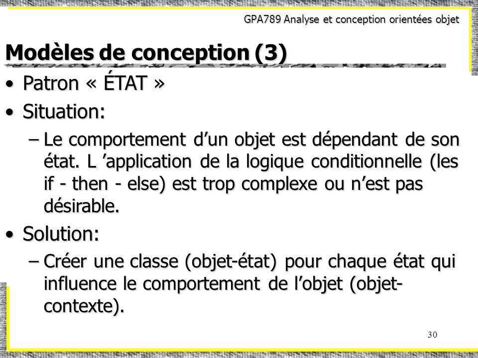 Modèles de conception (3)