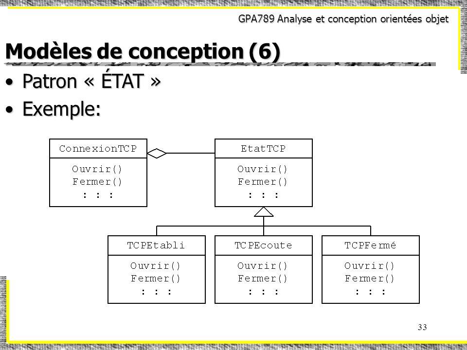 Modèles de conception (6)