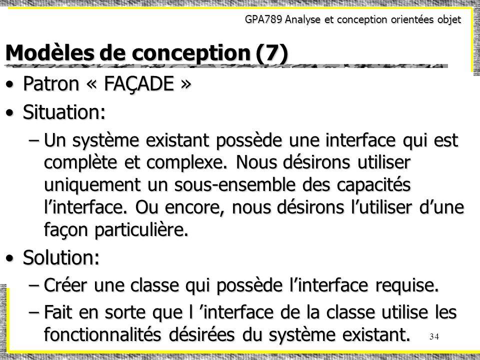 Modèles de conception (7)