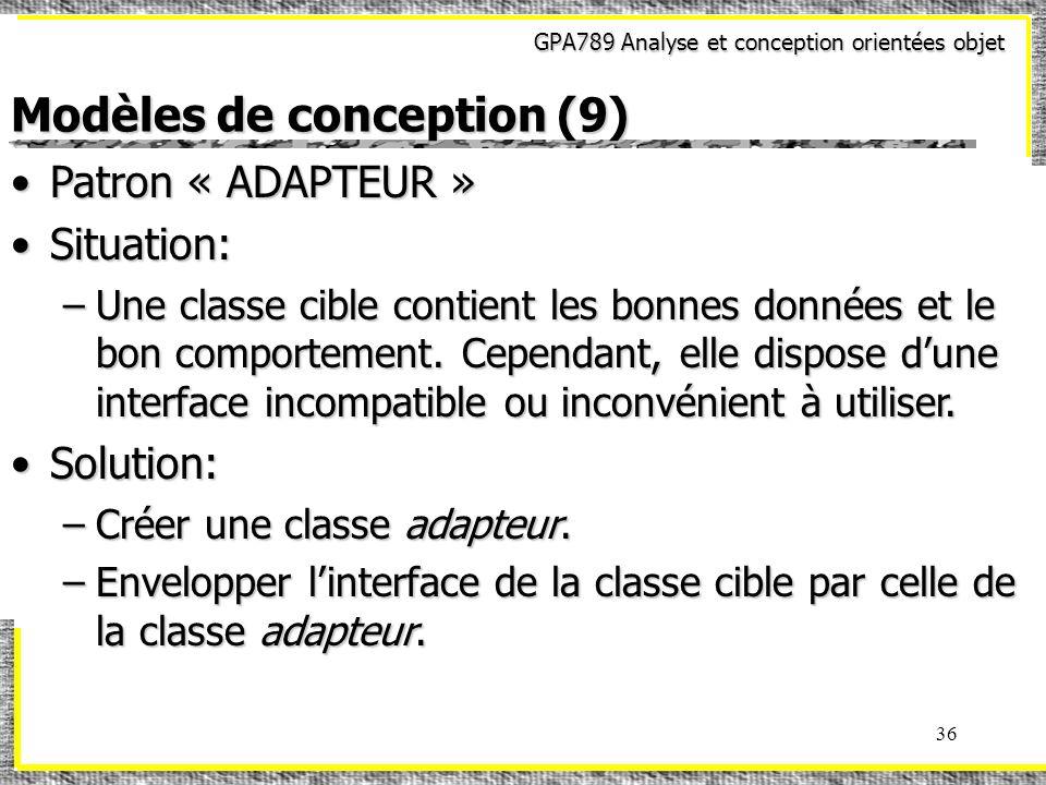 Modèles de conception (9)