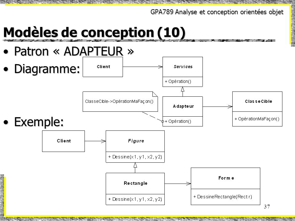 Modèles de conception (10)