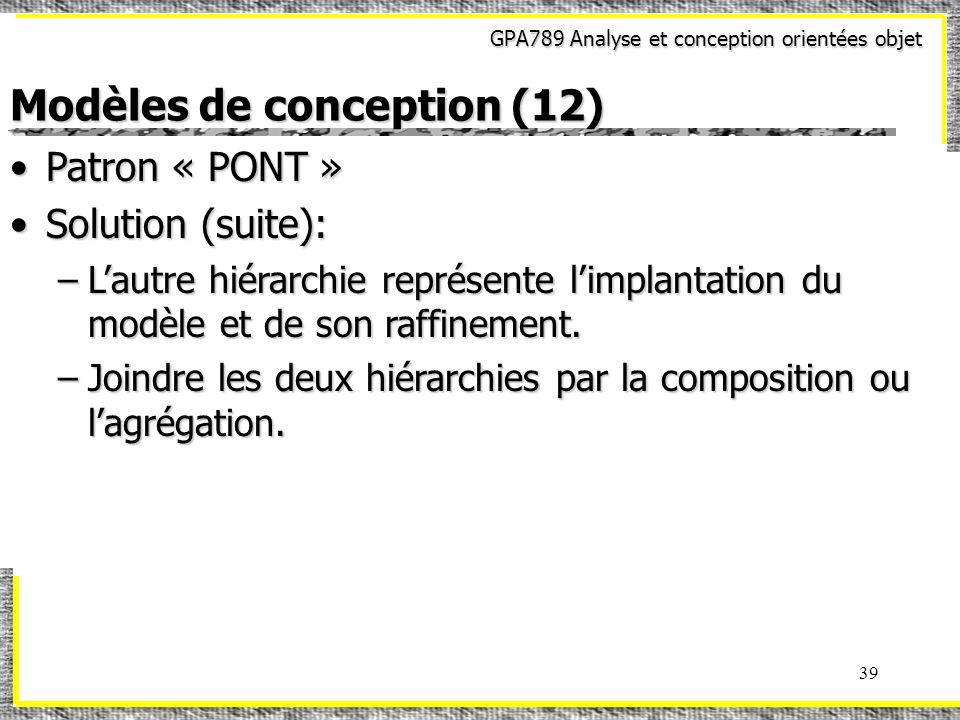 Modèles de conception (12)
