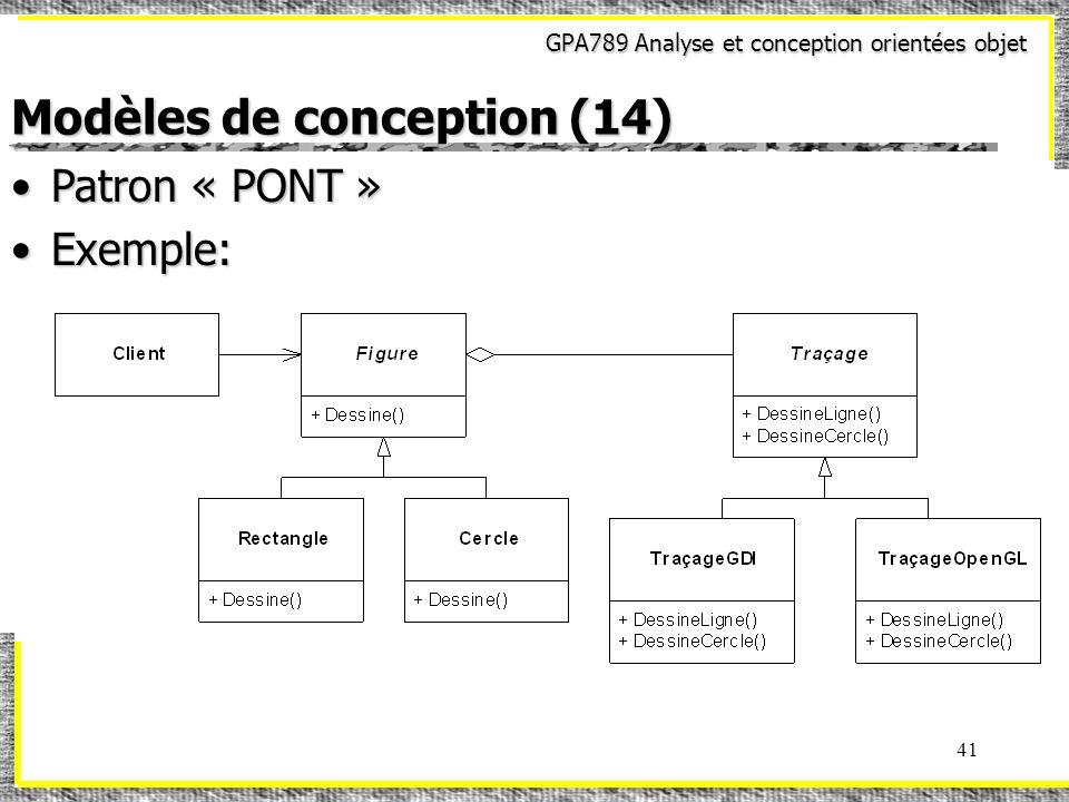 Modèles de conception (14)