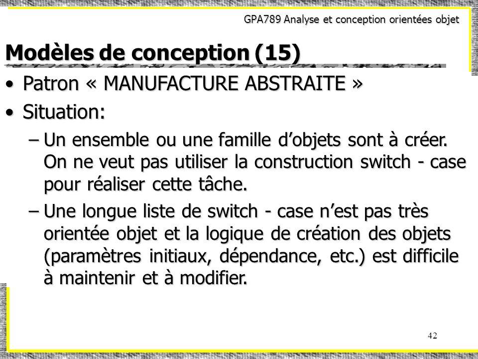 Modèles de conception (15)