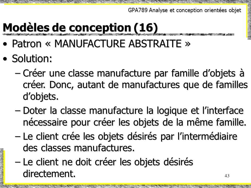 Modèles de conception (16)