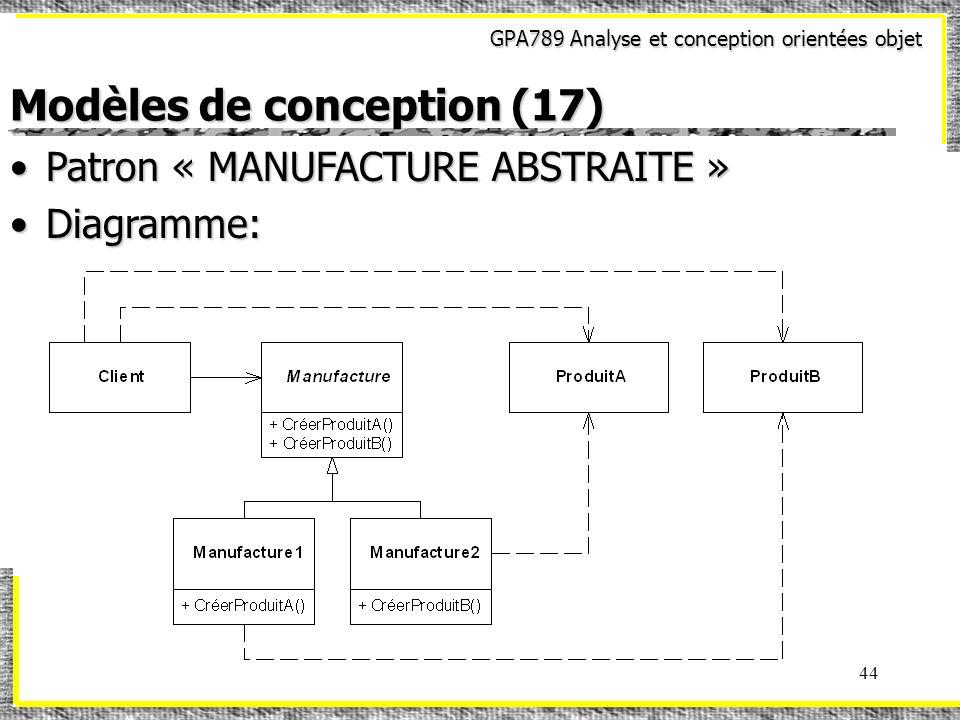 Modèles de conception (17)