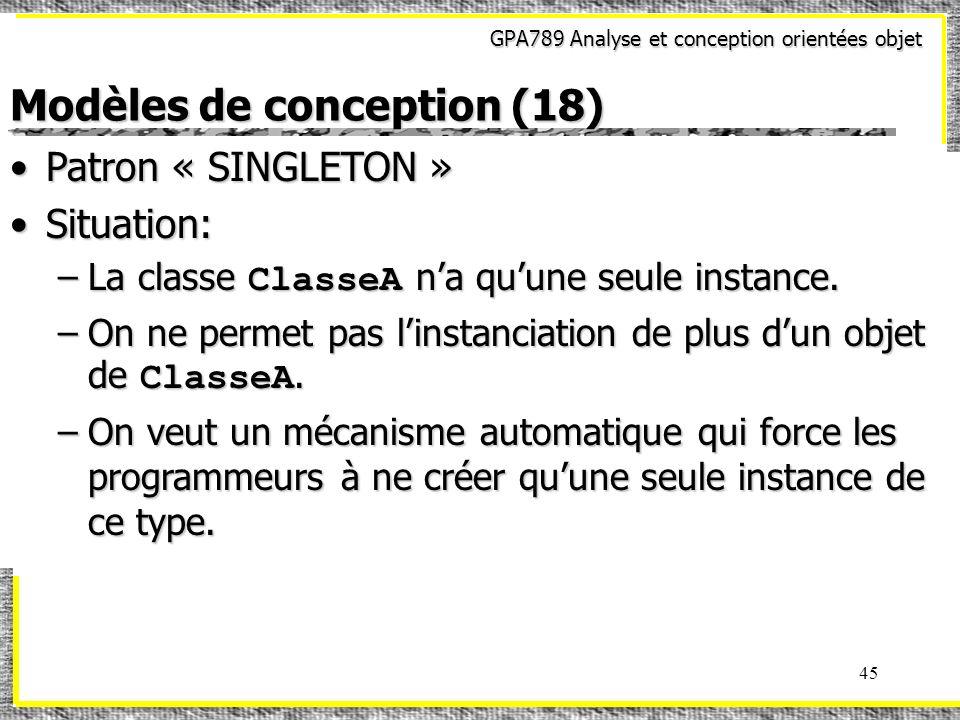 Modèles de conception (18)