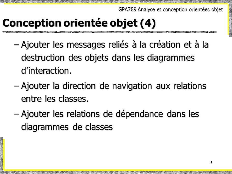 Conception orientée objet (4)