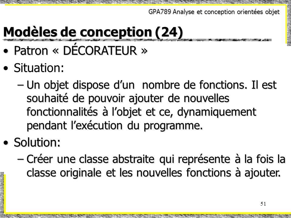 Modèles de conception (24)