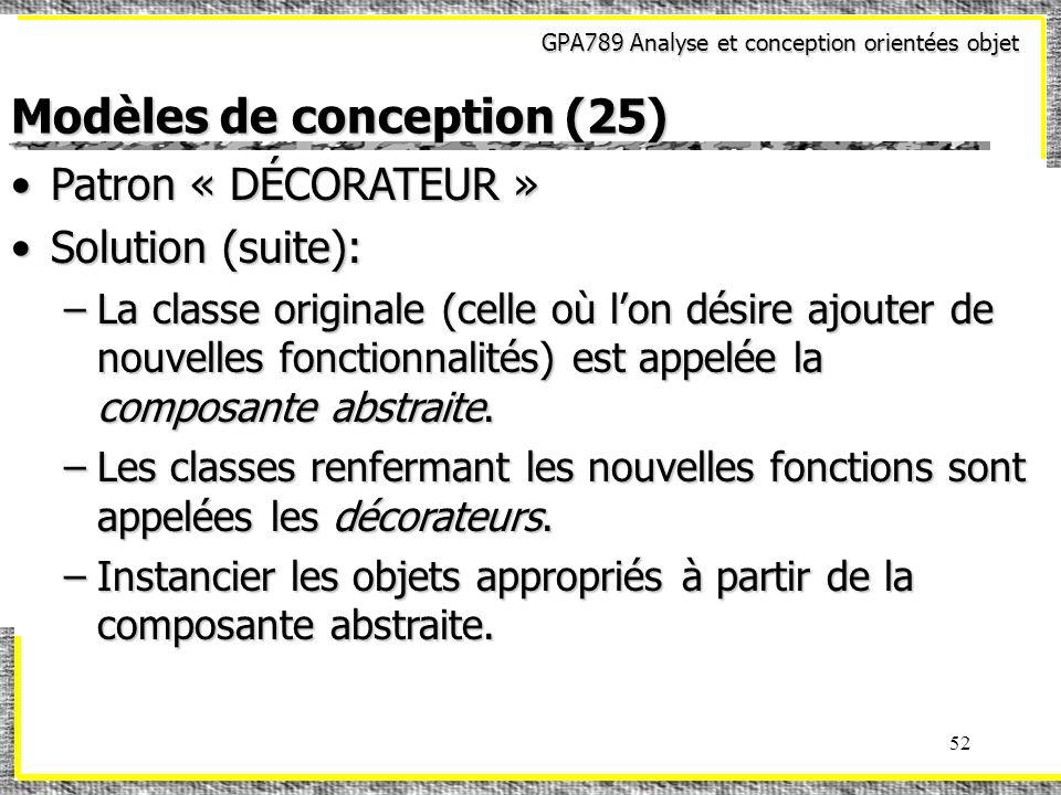 Modèles de conception (25)