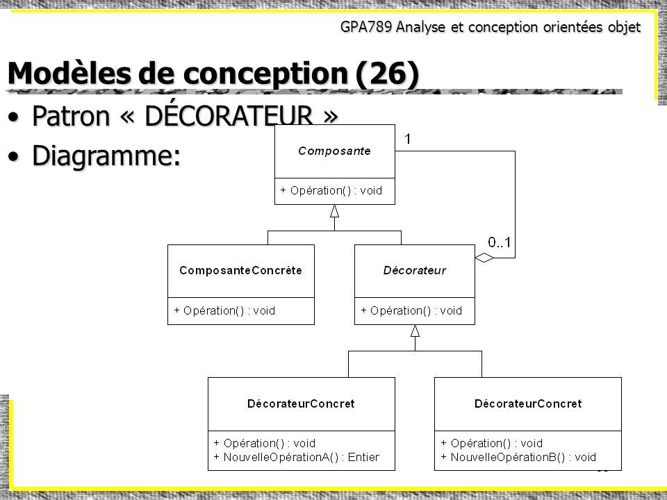 Modèles de conception (26)