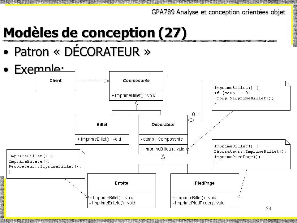 Modèles de conception (27)