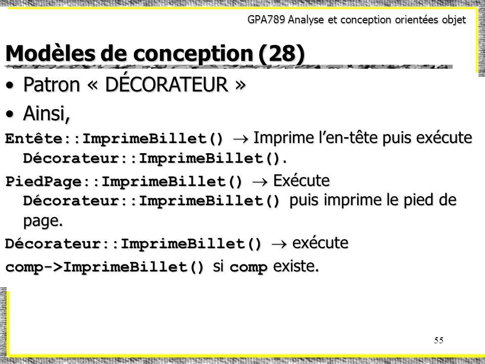 Modèles de conception (28)