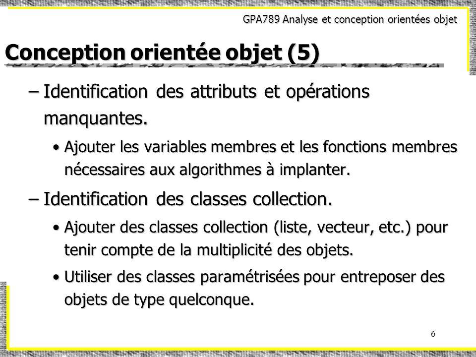 Conception orientée objet (5)