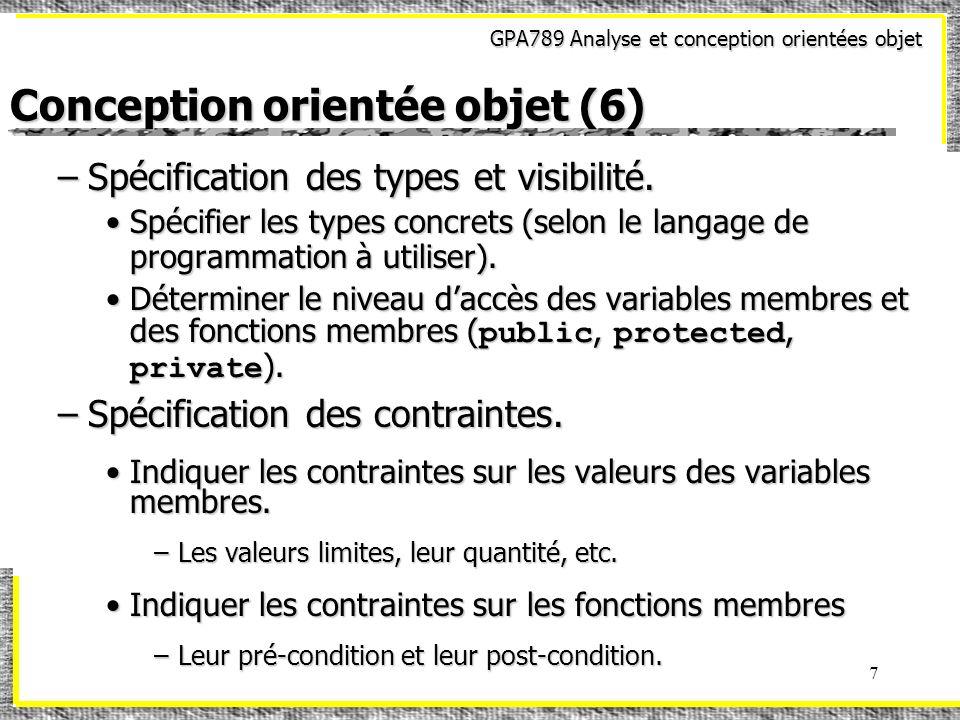 Conception orientée objet (6)
