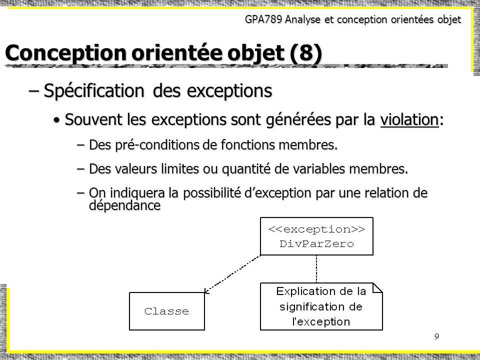 Conception orientée objet (8)