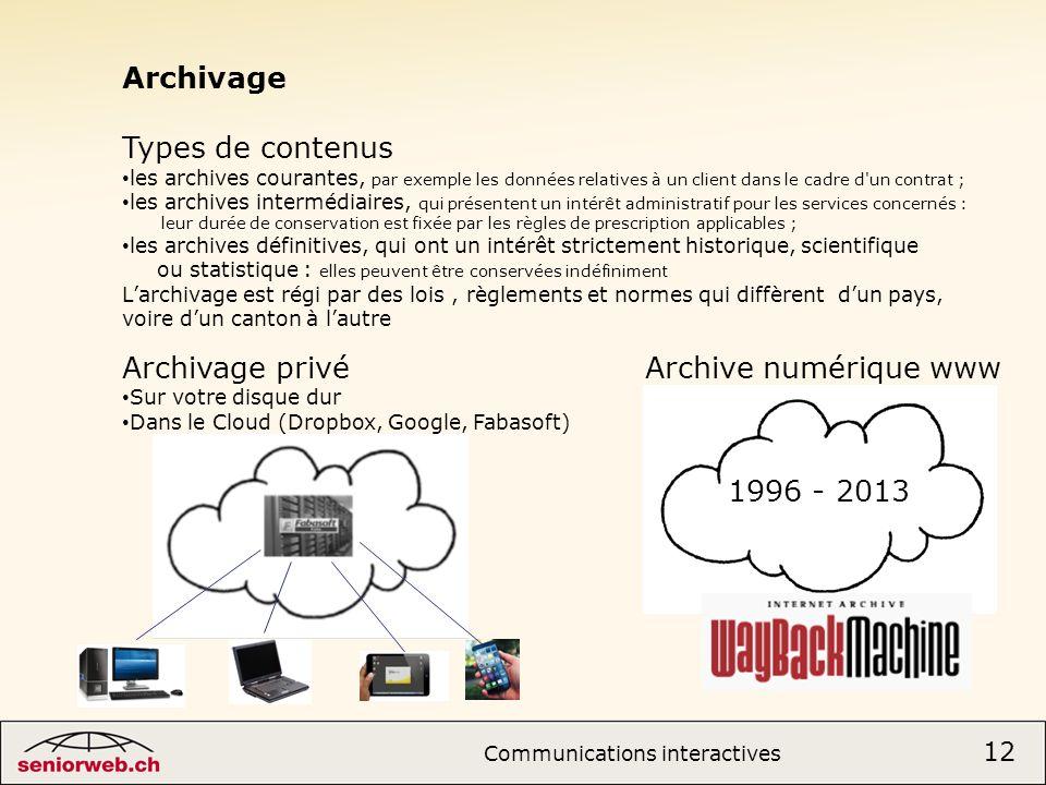 Archivage privé Archive numérique www