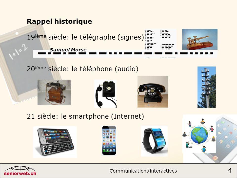 19ième siècle: le télégraphe (signes)