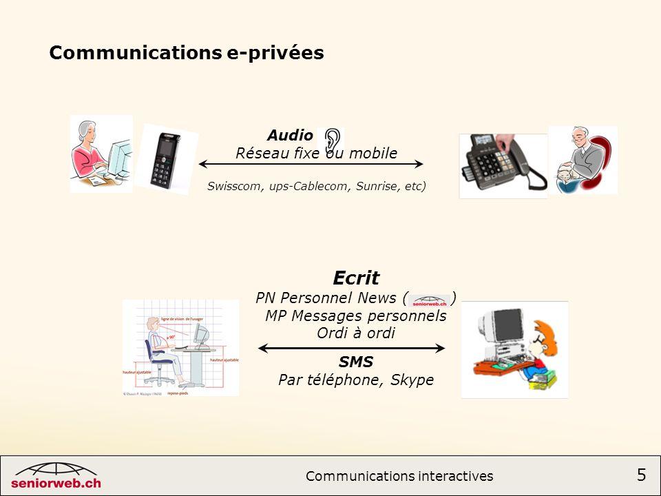 Communications e-privées