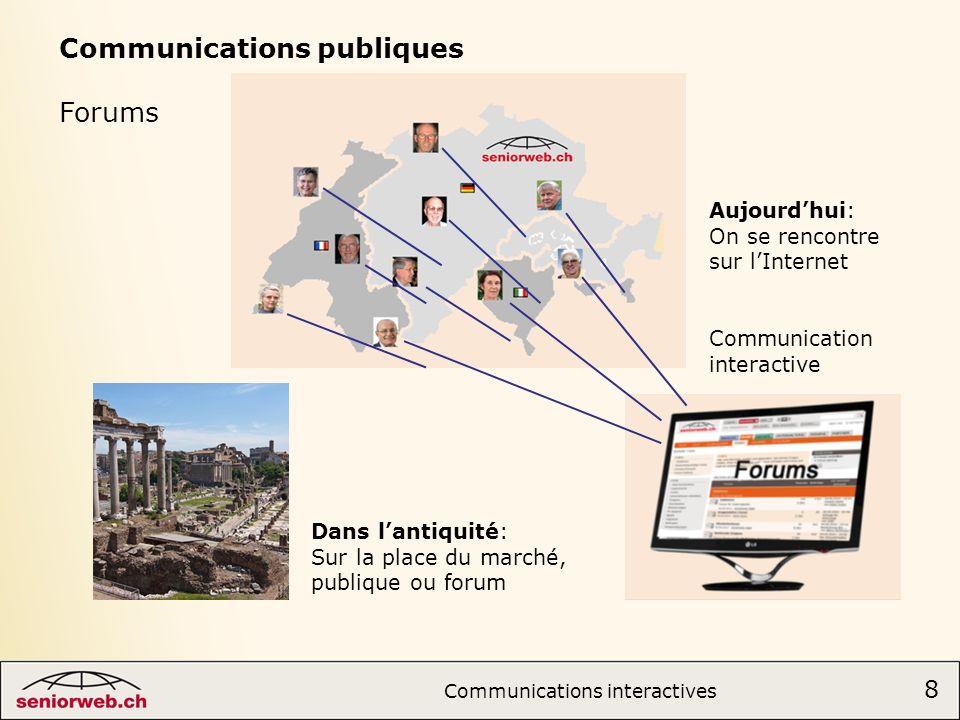 Communications publiques Forums