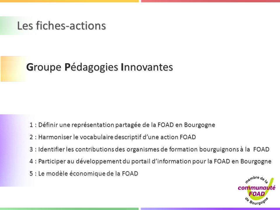 Les fiches-actions Groupe Pédagogies Innovantes