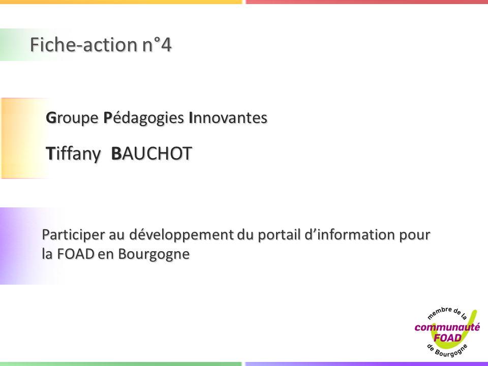 Fiche-action n°4 Tiffany BAUCHOT Groupe Pédagogies Innovantes