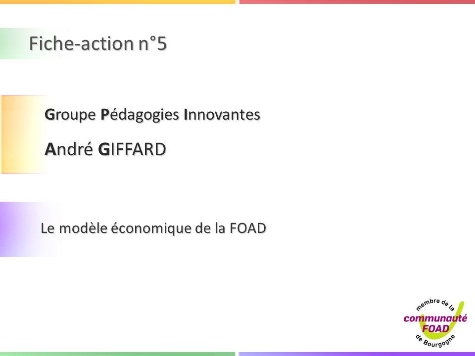 Fiche-action n°5 André GIFFARD Groupe Pédagogies Innovantes