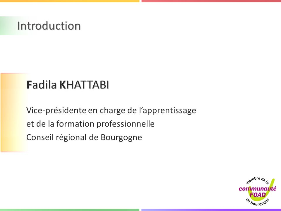 Introduction Fadila KHATTABI