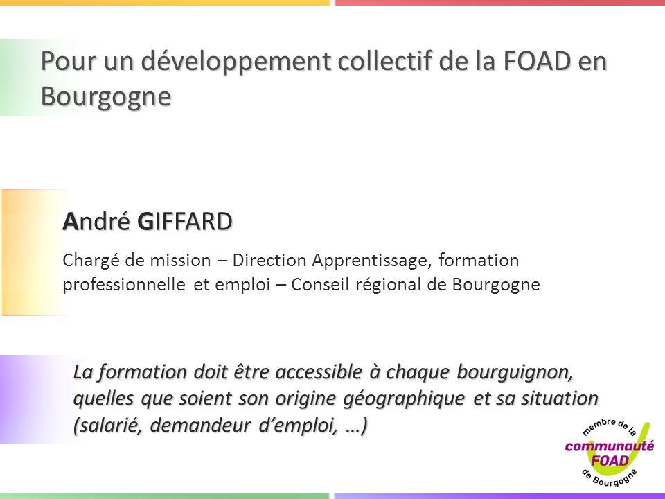 Pour un développement collectif de la FOAD en Bourgogne